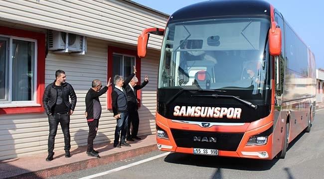 Samsunspor Trabzon'a Hareket Etti