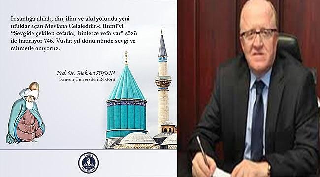 Rektör Aydın'dan Mevlana Haftası Mesajı