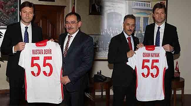 Samsunspor A. Ş.'den Vali Kaymak ve Başkan Demir'e Ziyaret