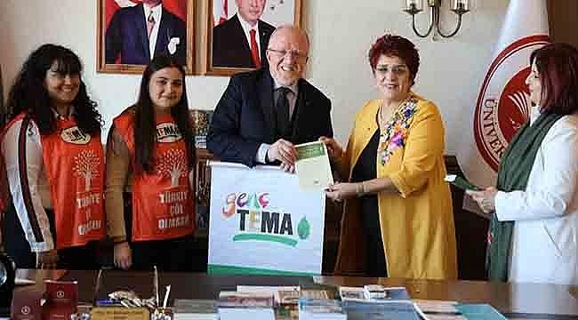 TEMA Vakfı Yönetiminden Rektör Aydın'a Ziyaret