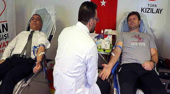 Yılport Samsunspor A. Ş.'den Kızılay'a Kan Bağışı
