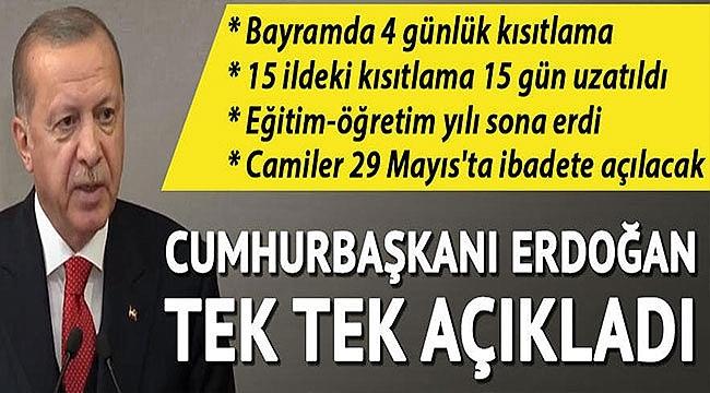 Cumhurbaşkanı Erdoğan, 81 İlimizde Sokağa Çıkma Kısıtlaması Uygulanacak