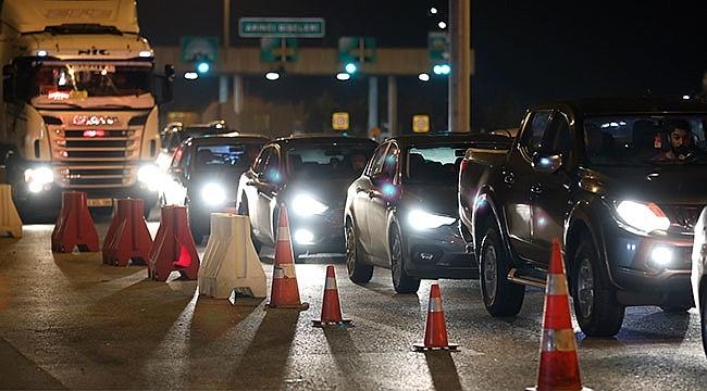 Samsun'da, Seyahat Kısıtlaması Kapsamında 448.914 Araç Kontrol Edildi