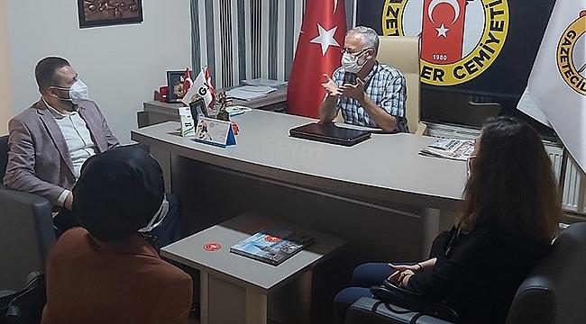 AK Parti İnsan Hakları Heyeti'nden Gazeteciler Cemiyeti'ne Ziyaret