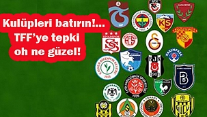 Kulüpler Birliği'nden TFF'ye Tepki!...
