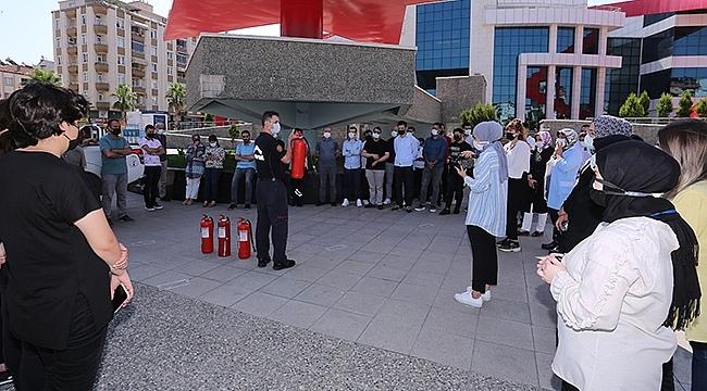 Canik Belediyesi'nde Yangın Tatbikatı