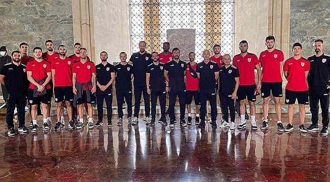 Samsunspor Basket Ata'nın Huzurunda